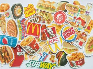 Food Stickers isi 40 pcs