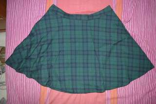 F21 circle plaid skirt