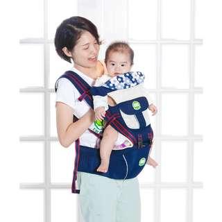 TLF雙生小蛙 多功能背帶 可拆式 透氣寶寶腰凳揹巾 雙肩嬰兒背帶背袋背巾腰椅 腰凳 3~36個月
