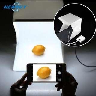 Mini photo studio photo box bisa di lipat ada lampu led tempat foto produk