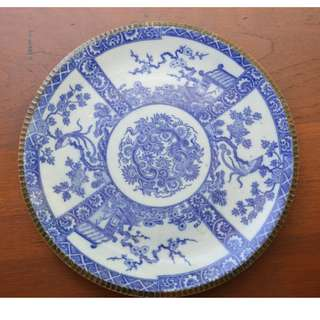 Blue and White Large Plate, 31 cm Japan