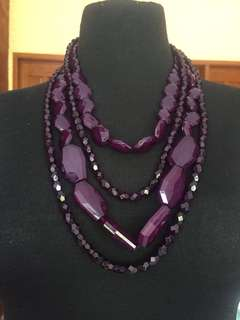 Marks&spencer Plum necklace