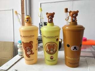 🚚 拉拉熊吸管水杯(三個一起)
