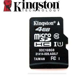 🚚 [WHOLESALE] Kingston Class 10 microSD TF Card - 4GB