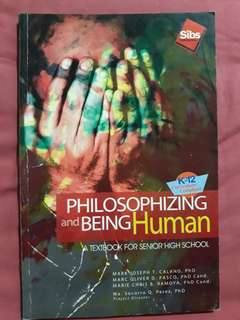 Philosophizing and Being Human Textbook