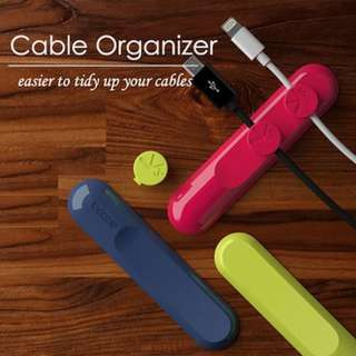 Cable Organizer (Red, Light Green, Blue & Black)