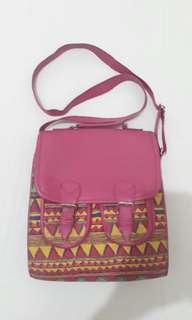 Pink Aztec Bag (Long Strap)