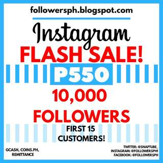 10,000 Followers For Instagram (Super Sale)