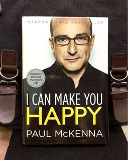 《Bran-New Hardcover + Come With Guided Hypnosis CD + Start Take Control & Increase Happiness In Life 》Paul McKenna - I CAN MAKE YOU HAPPY