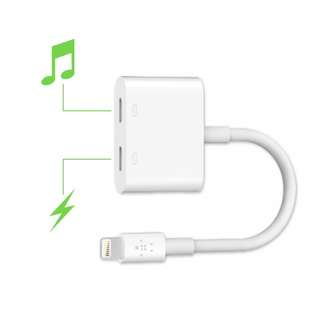 Apple Dual Lightning Audio & Charge Adapter