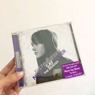 Justin bieber never say never cd singapore edition