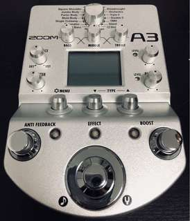 Almost New Zoom A3 Acoustic Modeller / DI Box w/ Effects