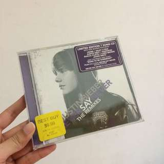 Justin bieber never say never cd USA edition original