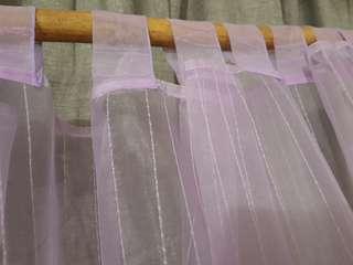 Lavender colour sheer tab top curtain