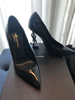 "Saint Laurent 4"" YSL black heels size 35"