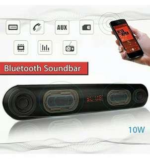 JC-176 10W Bluetooth Wireless Soundbar AUX Input