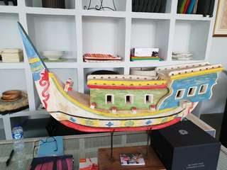 Wooden handmade Phinisi boat replica