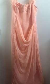 Peach/ Light Orange Gown