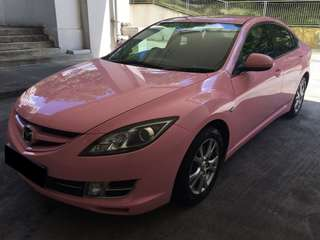 8 June to 11 June Mazda 6 pink 2.0A Only $195  ( p plate we
