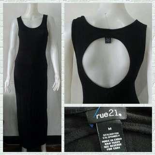 Rue 21 Black Open Back Maxi Dress