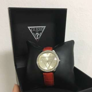 GUESS ORI Red Leather