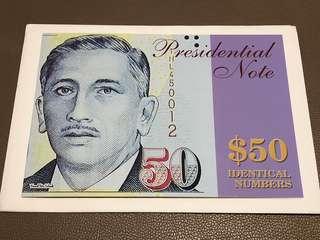 RARE Commemorative $50 Identical Pair 1HF 931948 / 1HL 931948 in Original Brand New Mint Uncirculated Condition (UNC)