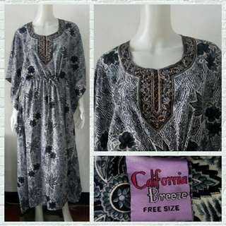 California Breeze Floral Kaftan Dress