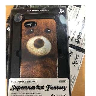 [PAPERWORKS]泰迪熊公仔蘋果iPhone8 / 7原創全包邊手機殼