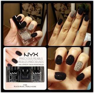 NYX Precious Pearls Nail Polish + Pearl Beads Set