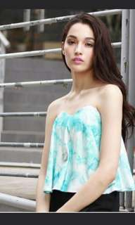 Fayth ombre Strapless Top