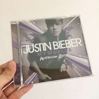 Justin bieber my worlds australian ed cd album