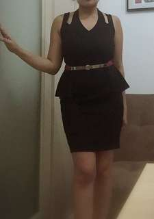 Black sexy dress     (Belt not included , original  price 1,200 now on sale)