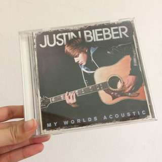 Justin bieber my worlds acoustic cd album import USA