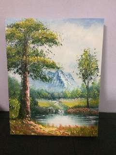 Tranquility In The Forest Oil Painting