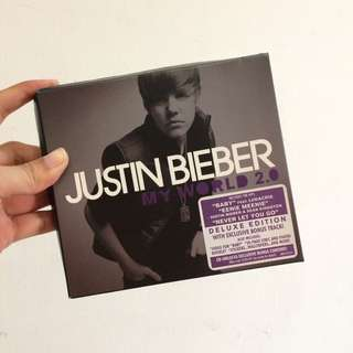 Justin bieber my world 2 deluxe edition cd album import USA