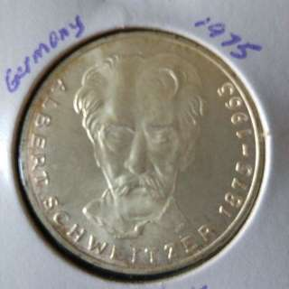 1975 Germany 5 mark silver