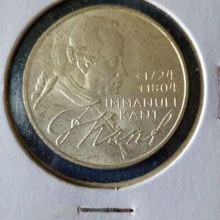 1974 Germany 5 mark silver.