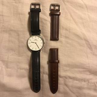 Daniel Wellington Black and Brown 32mm solver watch