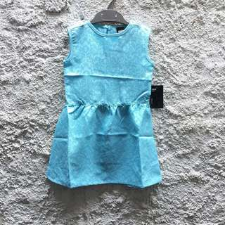 New! Dress anak baby blue 2-3 years