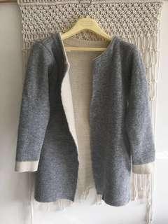 Winter knit coat