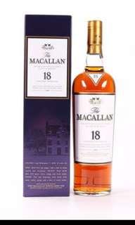 Macallan 18年 sherry oak(1996)