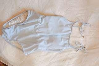 One-piece swimwear light blue