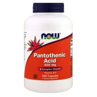 🚚 Now Foods Pantothenic Acid 500 mg 250 Capsules