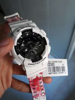G Shock Limited edition White Pink watch