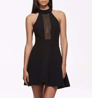 Kendall + Kylie collection black mesh skater dress