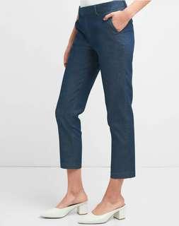 GAP Dark Denim Slim Crop Pants