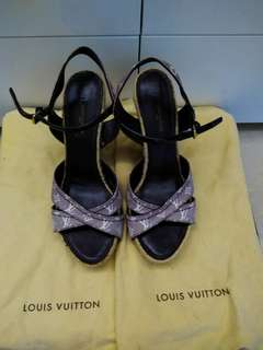 LV Louis Vuitton high heel platform sandals涼鞋高跟鞋