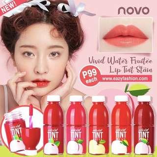 Novo vivid water fruitee lip tint stain