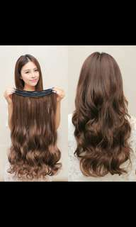*Best selling! Preorder korean wavy curly clip on straight hair extension* waiting time 15 days after payment is made *chat to buy to order