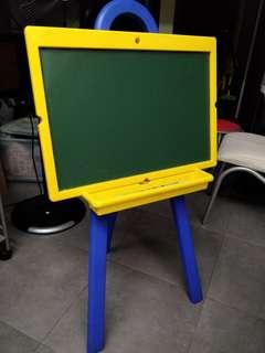 兒童白版粉筆板水筆粉筆通用等畫畫學習寫字60cm x 43cm 高104cm